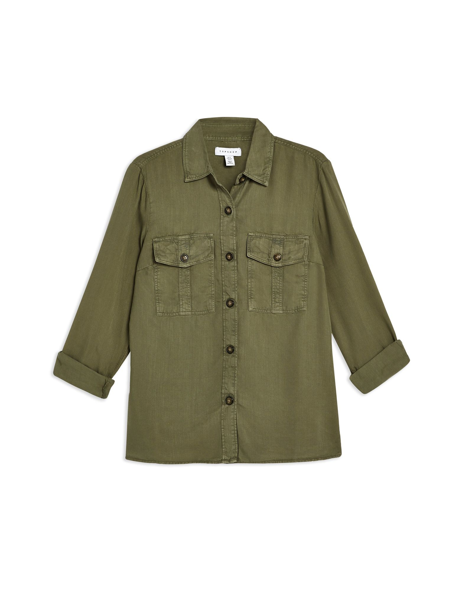 Camicie E bluse Tinta Unita Topshop Double Pocket Utility Utility Utility Shirt - donna - 38844468HG 5d3