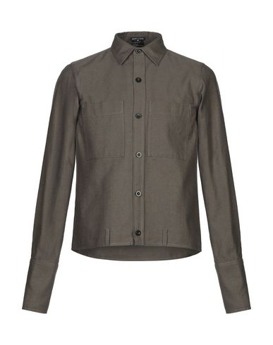 Ann Demeulemeester Solid Color Shirt In Military Green