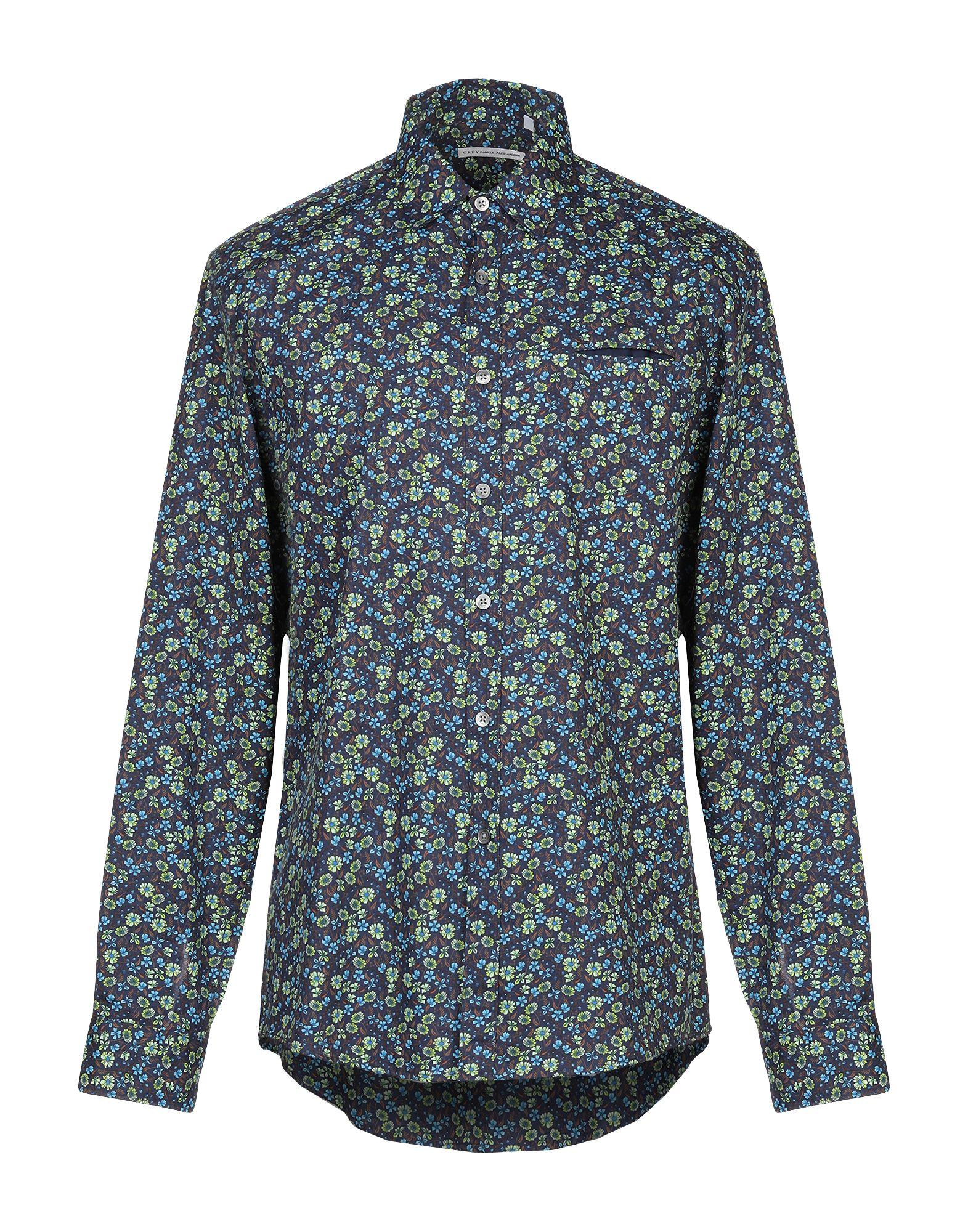 Camicia Fantasia grau Daniele Alessandrini herren - 38857307LF