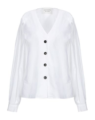 Les Coyotes De Paris Solid Color Shirts & Blouses In White