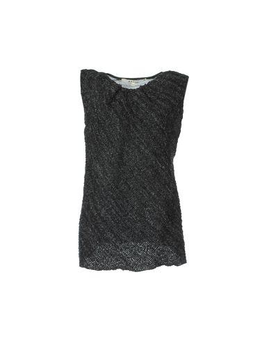 HACHE Sleeveless Sweater in Steel Grey