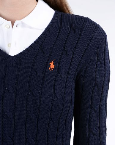 POLO RALPH LAUREN Cable V-Neck Sweater Jersey