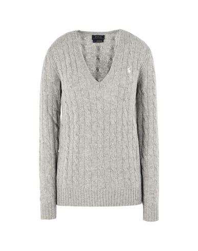 860e454d0d Polo Ralph Lauren Cable-Knit V-Neck Sweater - Jumper - Women Polo ...