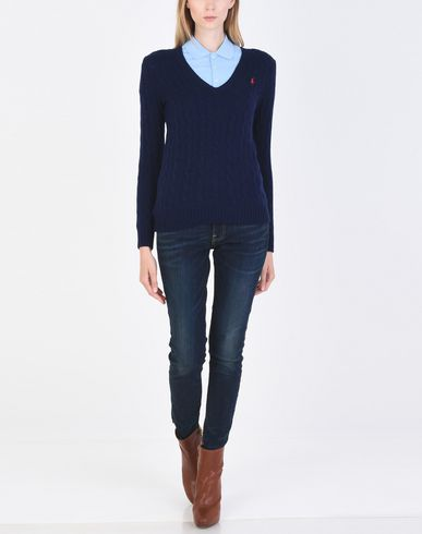 POLO RALPH LAUREN Cable-Knit V-Neck Sweater Pullover