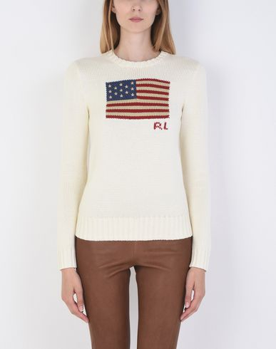 POLO RALPH LAUREN Flag Cotton Sweater Pullover