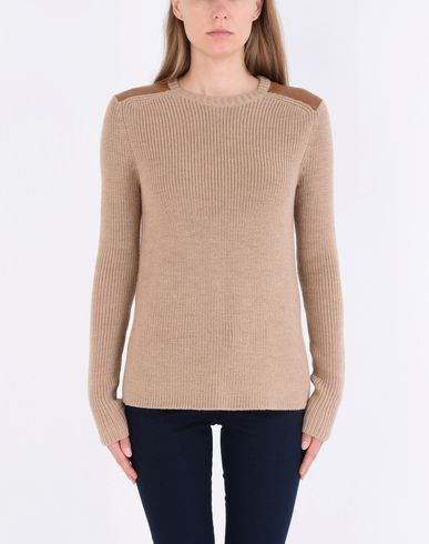 POLO LAUREN Trim Sweater Leather Leather Trim RALPH LAUREN Pullover Sweater POLO RALPH Pullover rrOqC
