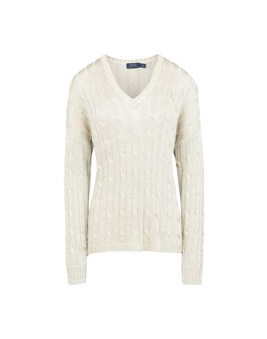 Polo Ralph Lauren Metallic Cotton Sweater - Jumper - Women Polo ... b2fb39e155