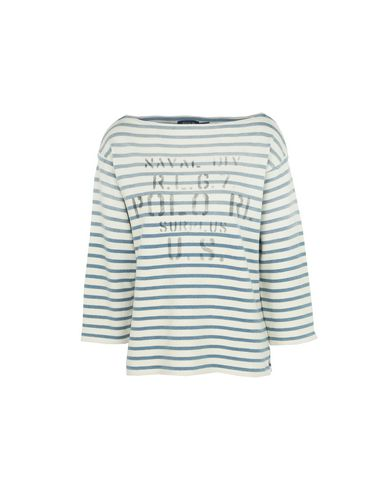 POLO RALPH LAUREN Striped Boatneck T Shirt Pullover
