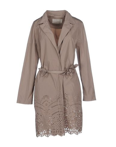 SCERVINO STREET Full-Length Jacket in Khaki