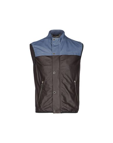 ANDREA INCONTRI Leather Jacket in Dark Brown