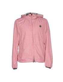 Blauer jacke pink