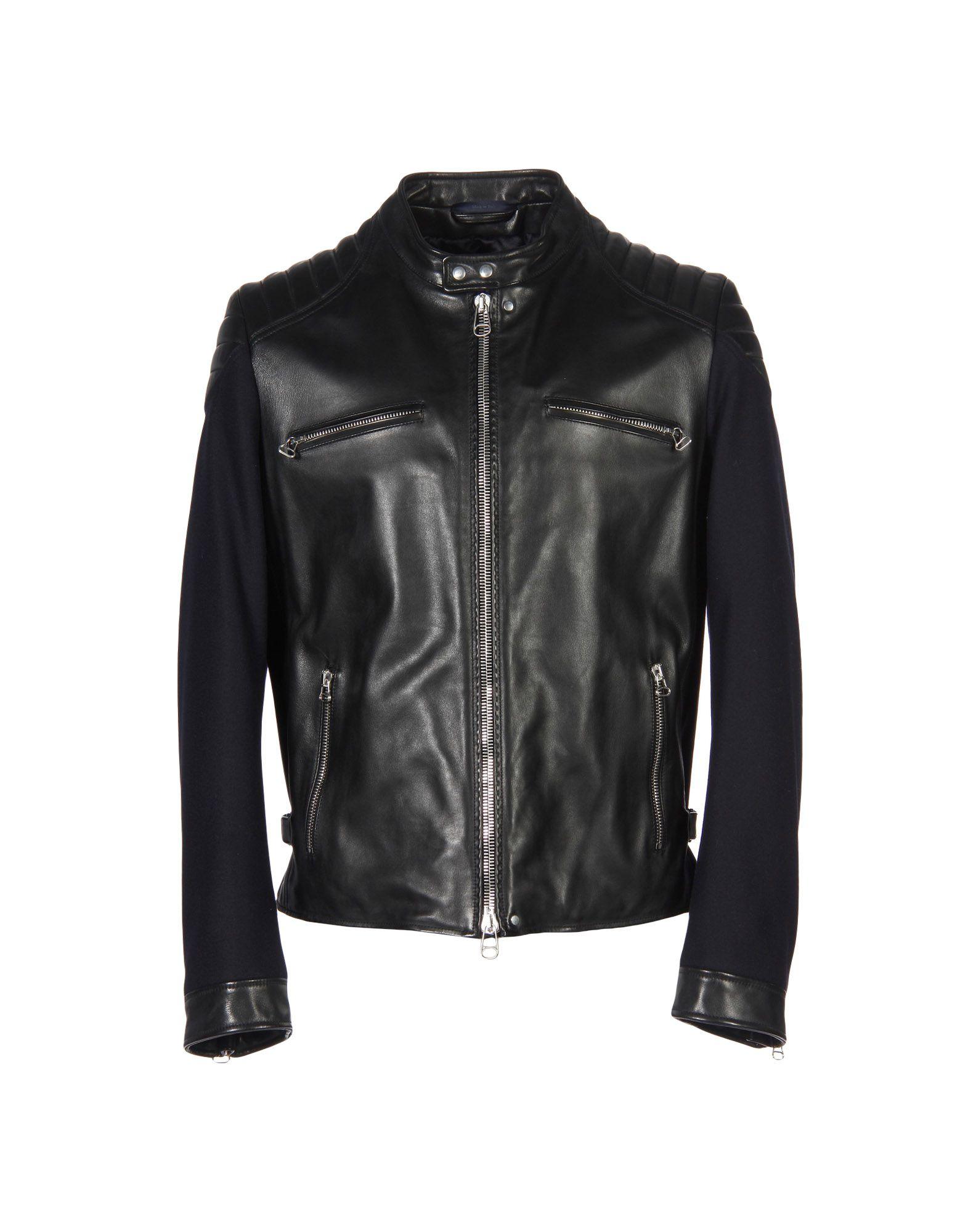 0f4c7ce197f Lanvin Leather Jacket - Men Lanvin Leather Jackets online on YOOX ...