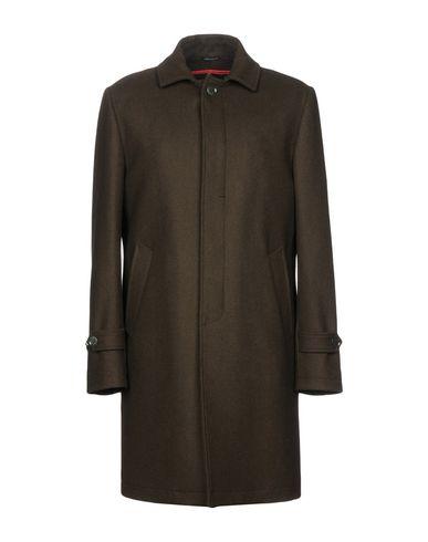 GREY DANIELE ALESSANDRINI Coats in Military Green
