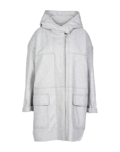 WOMAN ELTON WOOL-BLEND FELT HOODED COAT GRAY