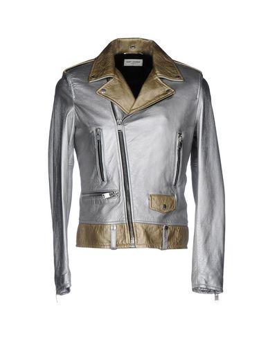 SAINT LAURENT Biker Jacket in Silver
