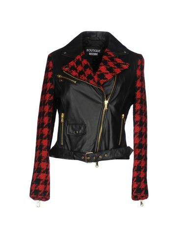 Boutique Moschino Biker Jacket   Coats & Jackets D by Boutique Moschino