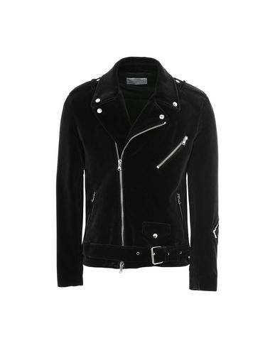 ROUTE DES GARDEN Velvet Biker Jacket in Black