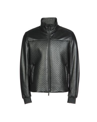 Armani collezioni black leather jacket