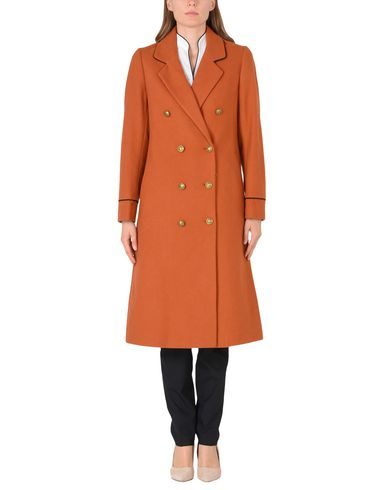 SCOTCH & SODA Long wool captains coat with piping details Abrigo