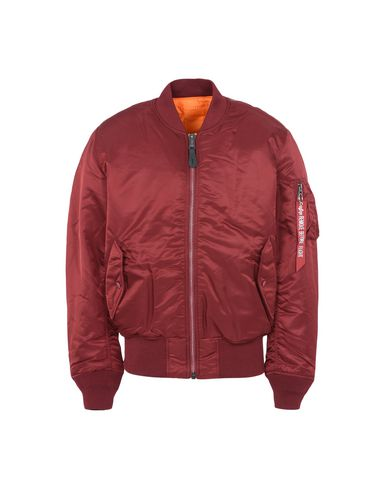 Alpha Industries Ma-1 Reversible Bomber Jacket In Burgundy