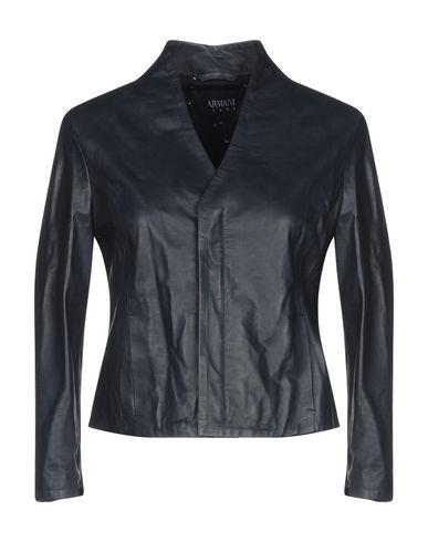 51892233e ARMANI JEANS Leather jacket - Coats & Jackets | YOOX.COM