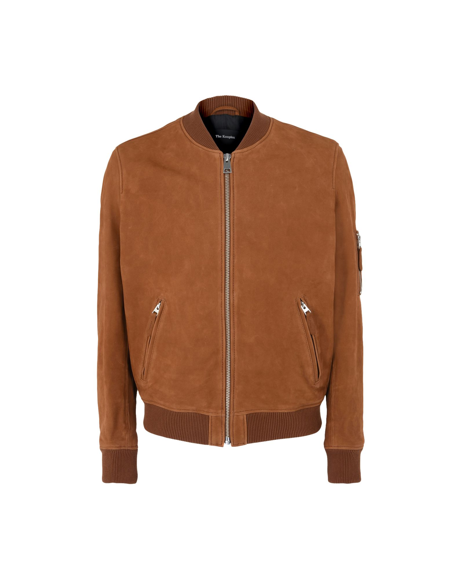 Bomber The Kooples Teddy-Style Leather Jacket - Donna - Acquista online su