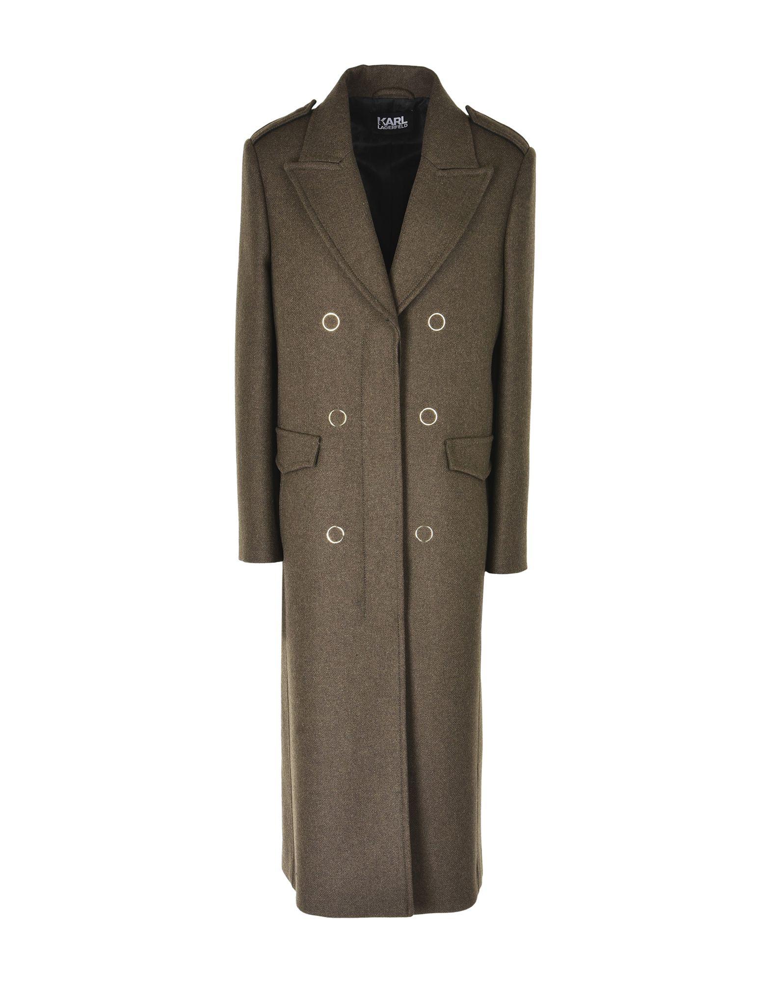 su Karl 41812413IB YOOX Acquista Lagerfeld online Cappotto Donna 17xX8pa1U