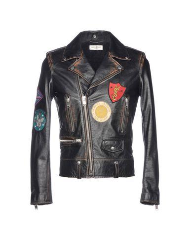 412eca48f SAINT LAURENT Biker jacket - Coats & Jackets   YOOX.COM