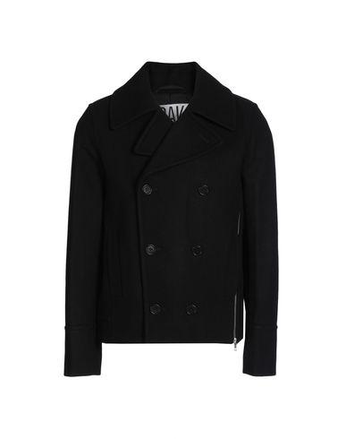 OAK Double Breasted Pea Coat in Black