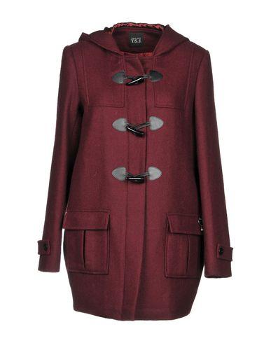 TWIN-SET JEANS Coat in Maroon