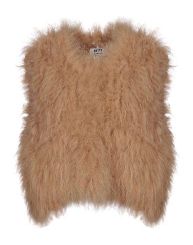 BETTA CORRADI Leather Jacket in Camel