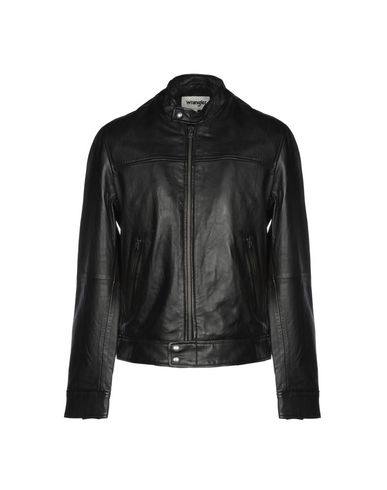 a073ef940 WRANGLER Leather jacket - Coats and Jackets | YOOX.COM