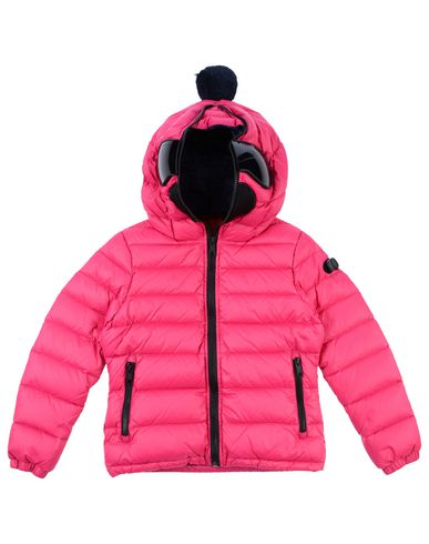 AI RIDERS ON THE STORM Down Jacket in Fuchsia