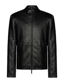 bec413854 Armani Collezioni Leather Jackets for Men - Armani Collezioni Coats ...