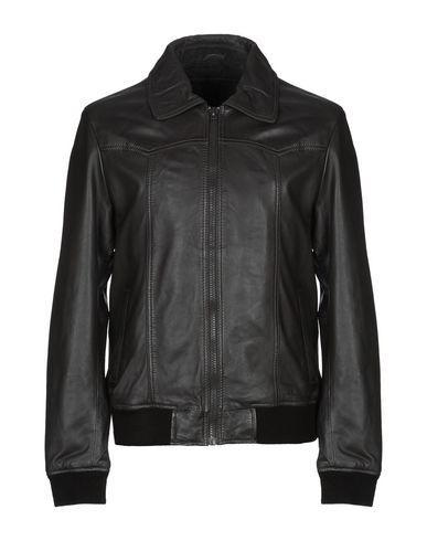 GOOSECRAFT Leather Jacket in Dark Brown