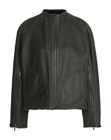 AMANDA WAKELEY Biker Jacket in Dark Green