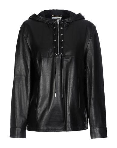 6e5e9f0b7 SAINT LAURENT Leather jacket - Coats & Jackets   YOOX.COM
