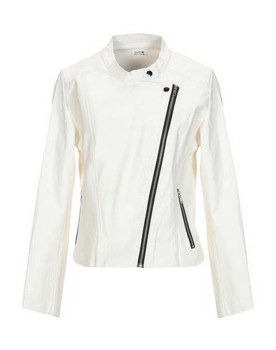MOLLY BRACKEN Biker Jacket in Ivory
