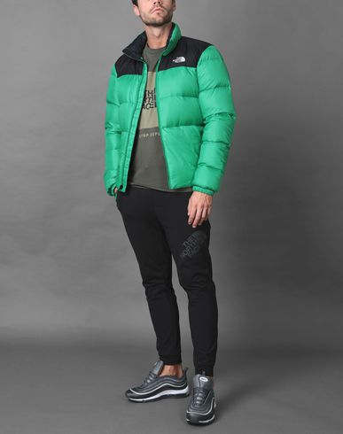 The North Face Nuptse Iii Mens Jacket Down Primary Green Tnf Black All Sizes