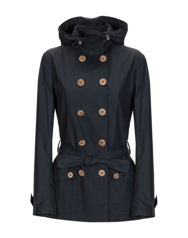 MONTECORE Double Breasted Pea Coat in Dark Blue