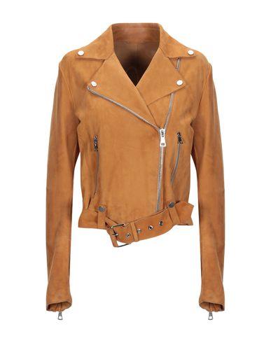 LIVEN Biker Jacket in Camel