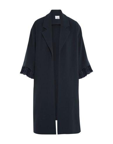 IRIS & INK Full-Length Jacket in Dark Blue