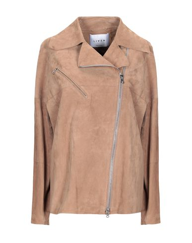 LIVEN Leather Jacket in Sand