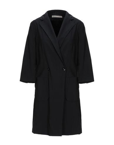MALLONI Double Breasted Pea Coat in Black