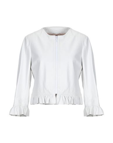 ALESSANDRO DELL'ACQUA Leather Jacket in Ivory