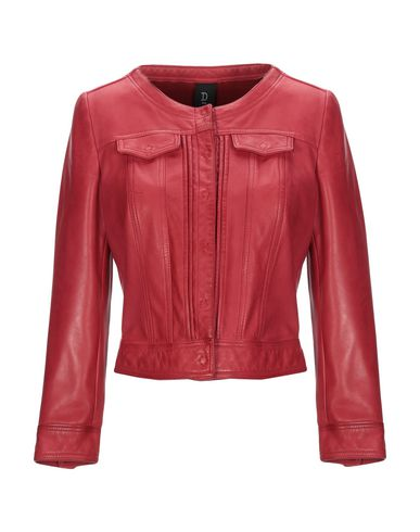 DELAN Leather Jacket in Red