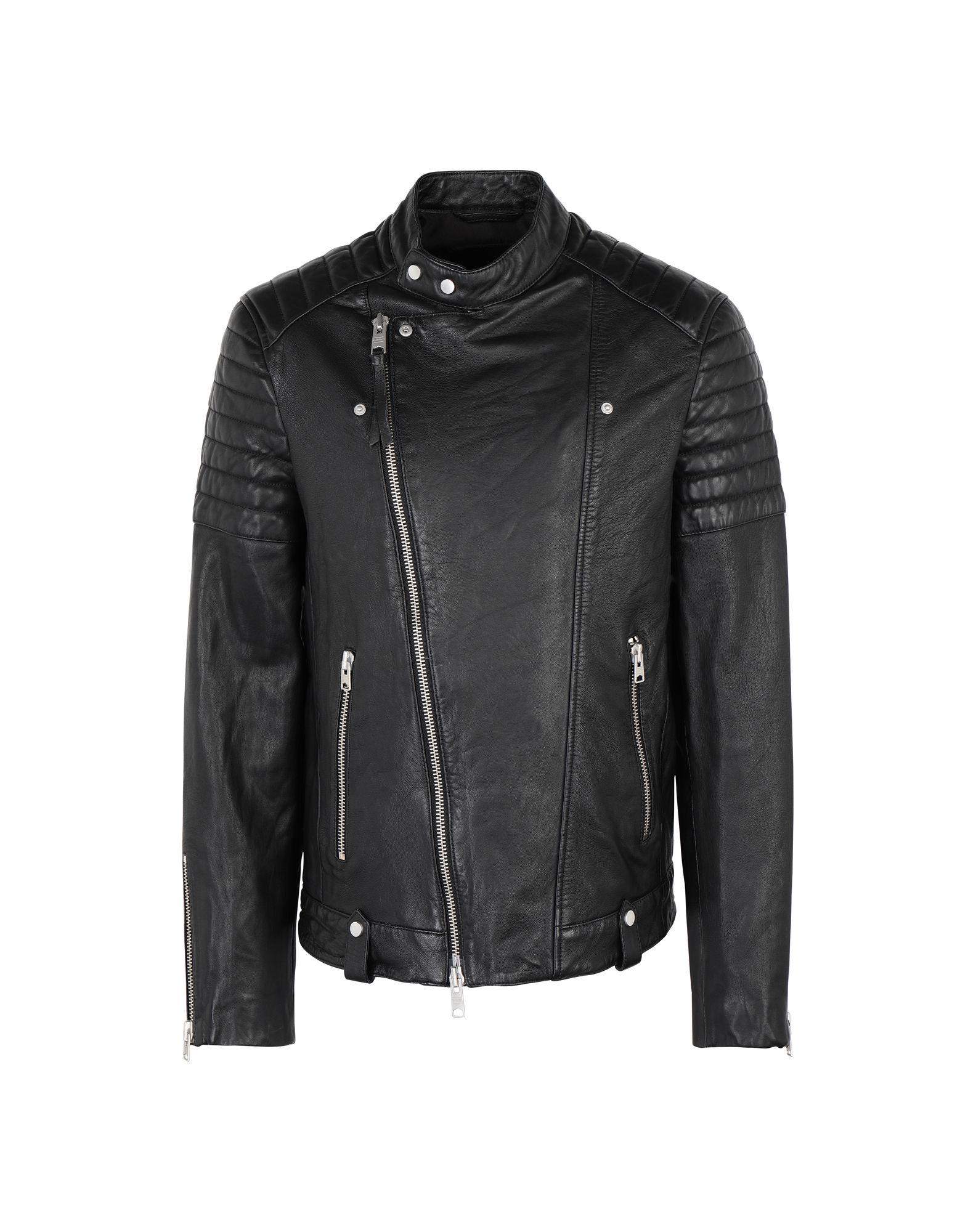 2443e3c98 ALLSAINTS Biker jacket - Coats and Jackets | YOOX.COM