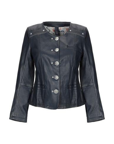HIGH Leather Jacket in Dark Blue