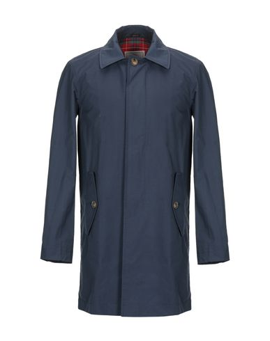 BARACUTA Overcoats in Dark Blue