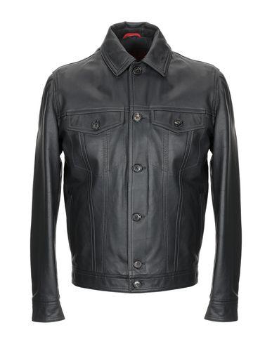 Isaia Leather Jacket   Coats And Jackets by Isaia